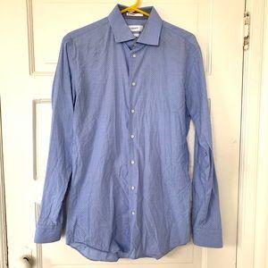 Calibrate Men's Button Down Shirt Trim Fit